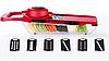 Овочерізка Mandoline Slicer 6 in 1 | Ручна овочерізка з контейнером, фото 2