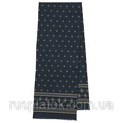 Фокстрот 698-14, павлопосадский шарф (кашне) шерстяной  двусторонний мужской с осыпкой