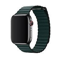 Ремешок Leather Loop Slim для Apple Watch 38 / 40mm (dark green)