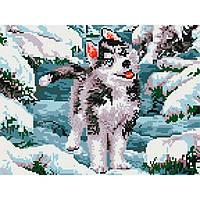 Алмазная живопись мозаика по номерам на холсте 30*40см BrushMe EJ312 Волченок