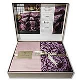 Комплект постельного белья TM Nazenin сатин размер евро Lexy bordo, фото 2