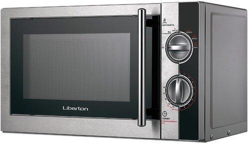 Микроволновая печь СОЛО LIBERTON LMW-2078M Black (сталь+черный+серебро)