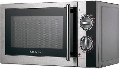 Микроволновая печь СОЛО LIBERTON LMW-2078M Black (сталь+черный+серебро), фото 2