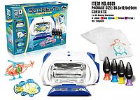 3D принтер Create Machines | Игрушка 3D принтер детский с трафаретами и формочками