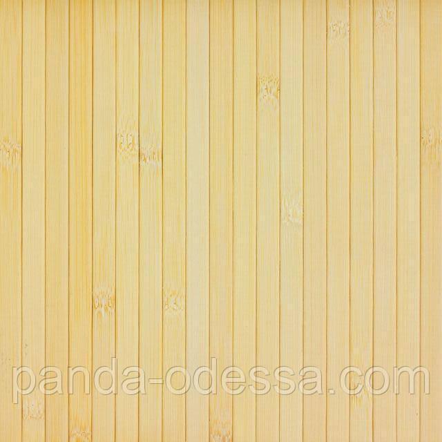 В пределах отрезка 1 м.п. /Бамбуковые обои светлые, 2 м, ширина планки 12 мм