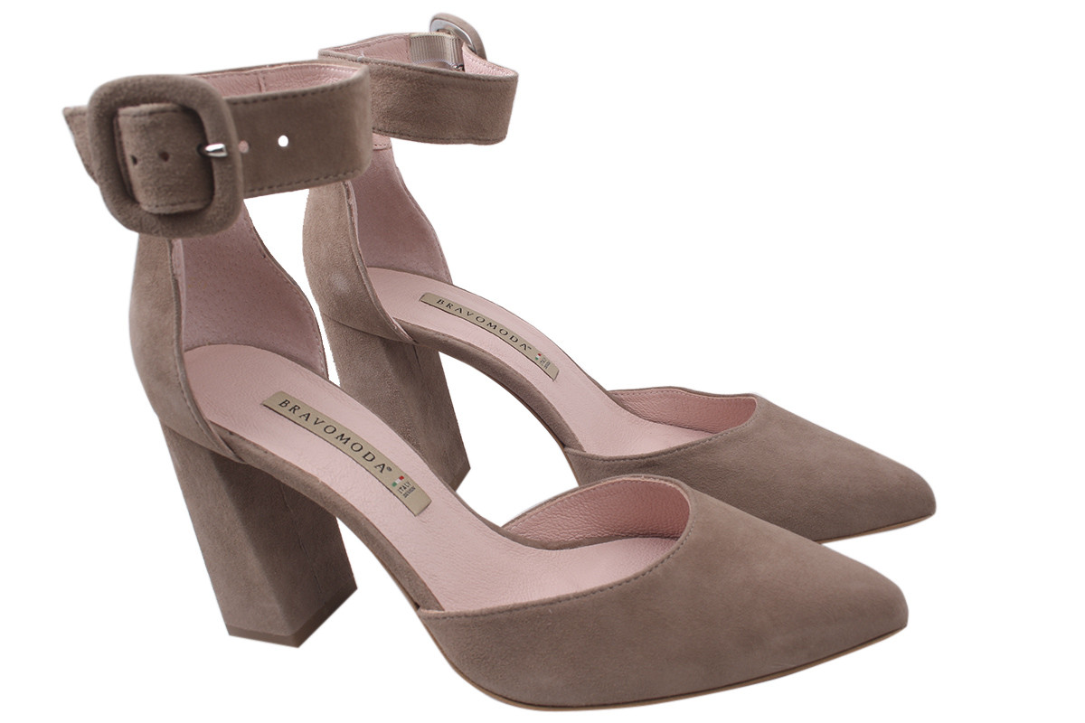 Туфли женские Bravo Moda натуральная замша, цвет капучино, размер 36-40, Польша