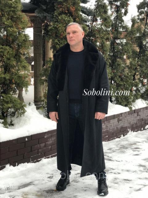 Мужские пальто с натуральным мехом