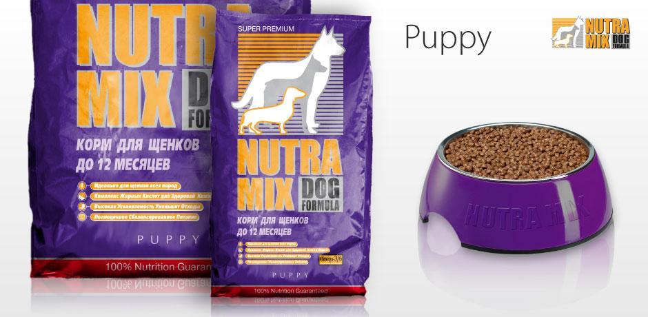 Корм Nutra Mix Dog Puppy Chiken для цуценят збалансоване харчування з куркою - 7,5 кг
