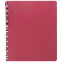 Тетрадь книжка записная на пружине В5 classic на 80 листов в клетку красная buromax bm.2419-005