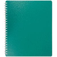 Тетрадь книжка записная на пружине В5 classic на 80 листов в клетку зеленая buromax bm.2419-004