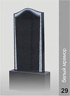 Памятник Наполеон Ровный с инкрустацией белого мрамора