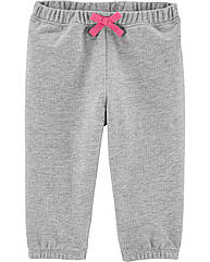 Cпортивные штаны для девочки Carter's серые  легкие