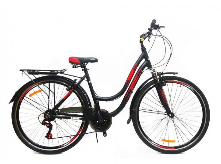 """Гірський велосипед 28 дюймів Azimut Street FRD рама 15,5-17 """" BLACK-RED"""