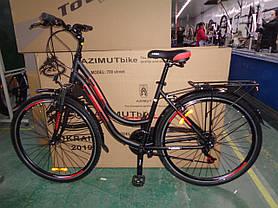 """Гірський велосипед 28 дюймів Azimut Street FRD рама 15,5-17 """" BLACK-RED, фото 2"""