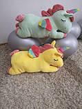 Плед іграшка подушка 3 в1 Єдиноріг   Іграшка дитячий плед   Іграшки-Подушки   М'яка іграшка Рожевий, фото 6