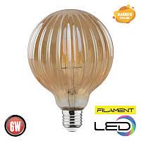 Светодиодная филаментная лампа меридиан RUSTIC MERIDIAN 6W 2200K AMBER HOROZ