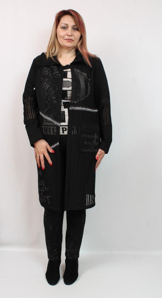 Турецкий стильный женский кардиган больших размеров 50-64