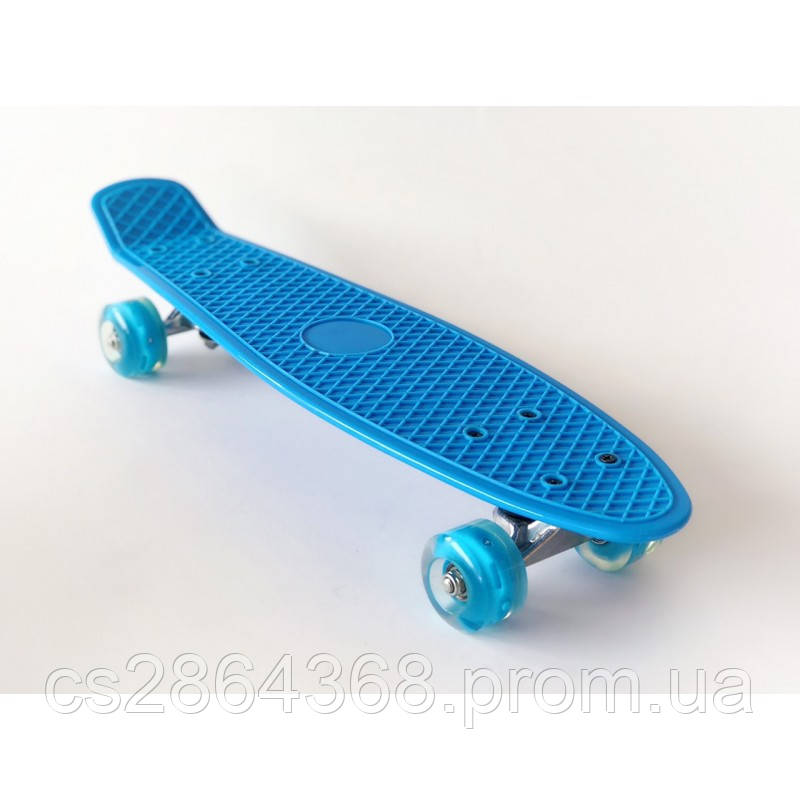"Пенни Борд 22"" Penny Board 22"" Blue со светящимися колесами"