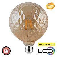 Светодиодная филаментная лампа твист RUSTIC TWIST 6W 2200К AMBER HOROZ