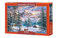 Пазлы Рождество в горах на 1000 элементов