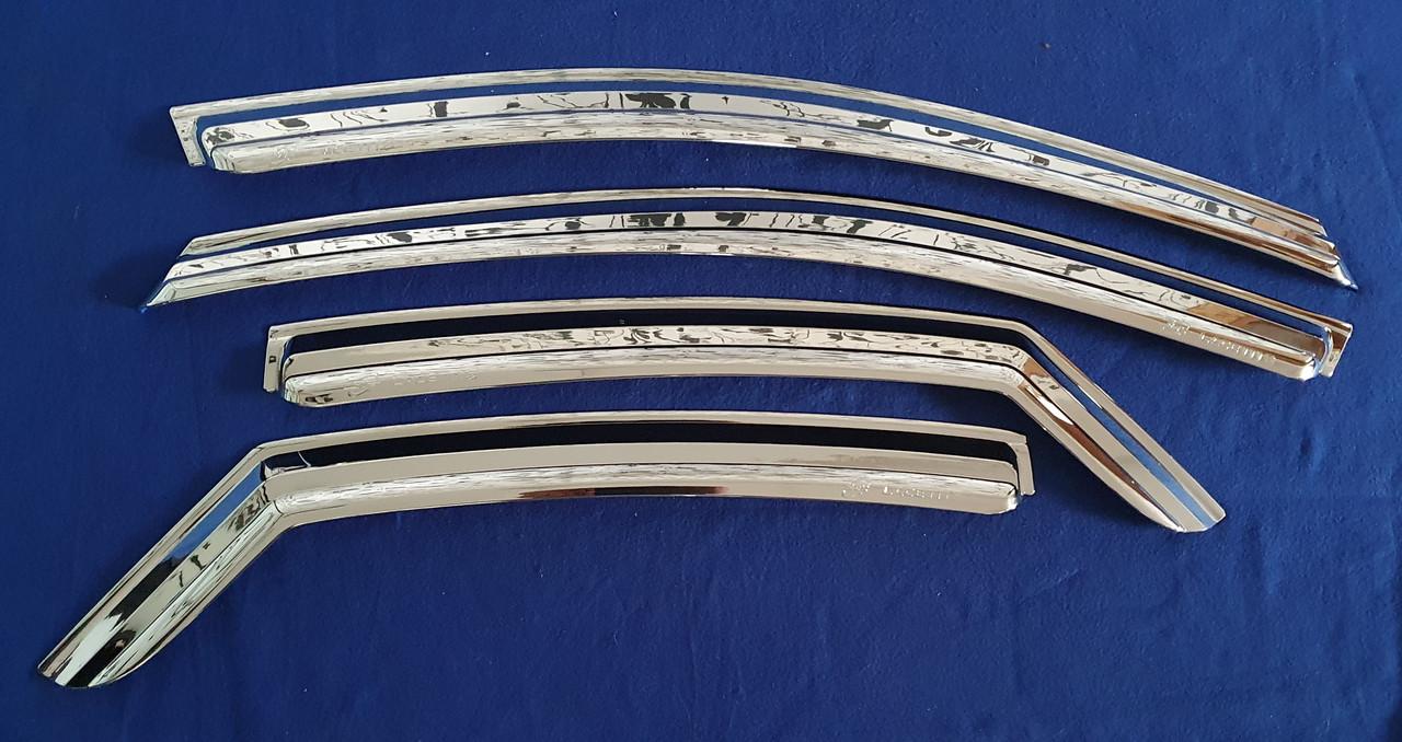 Хромированные ветровики, дефлекторы окон Chevrolet Lacetti седан