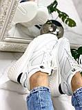 Стильные белые женские кроссовки, фото 3