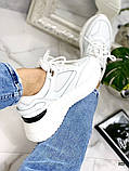 Стильные белые женские кроссовки, фото 2