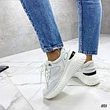 Стильные белые женские кроссовки, фото 5