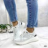 Стильные белые женские кроссовки, фото 6