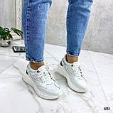 Стильные белые женские кроссовки, фото 7