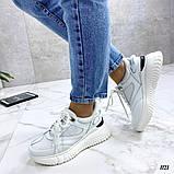 Стильные белые женские кроссовки, фото 8