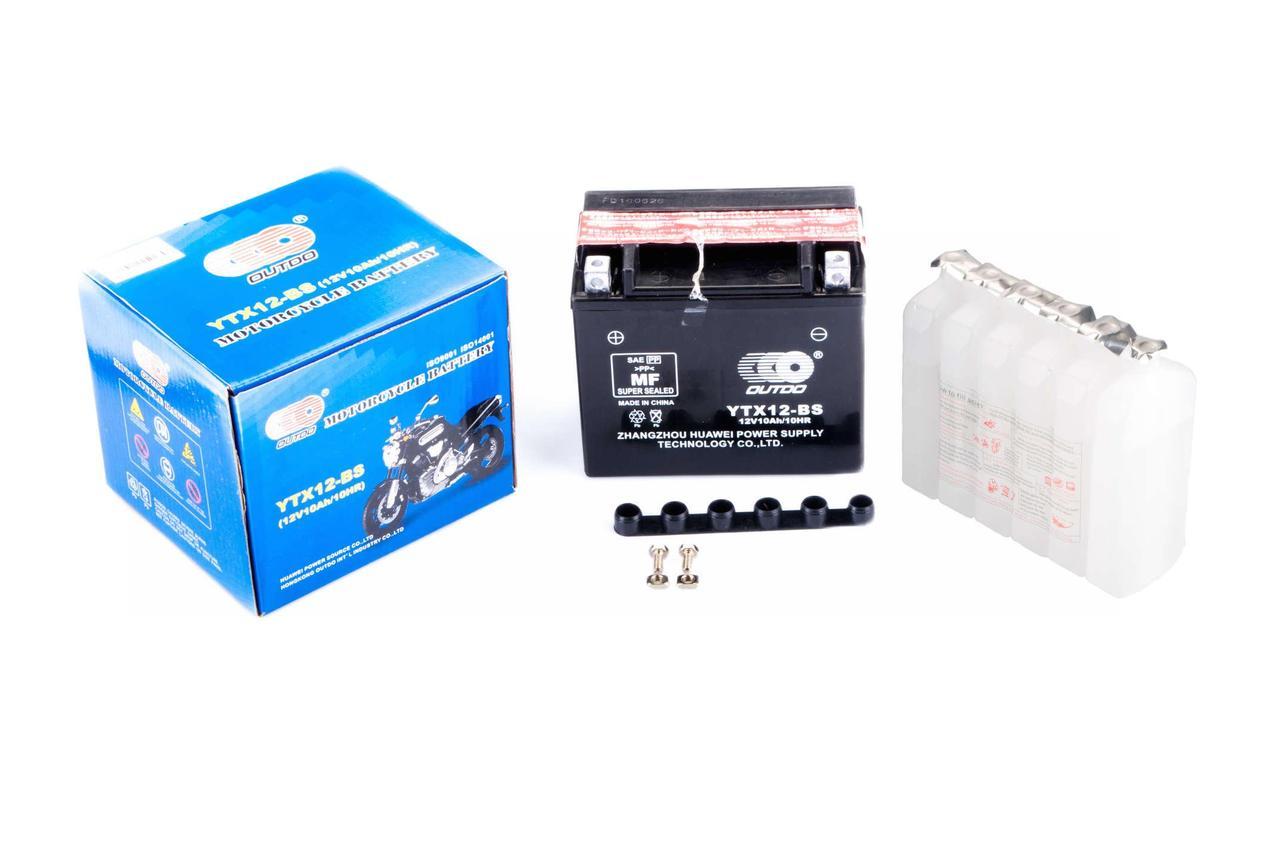 АКБ   12V 12А   заливной   (150x87x130, черный, mod:UTX  12-BS)   (+электролит)   OUTDO