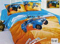 """Комплект детского постельного белья полуторный хлопковый Elway TD-167 """"Need for speed"""""""