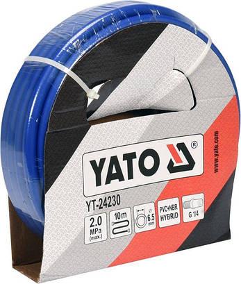 "Пневматический гибридный шланг 1/4"" 10 м YATO YT-24230, фото 2"