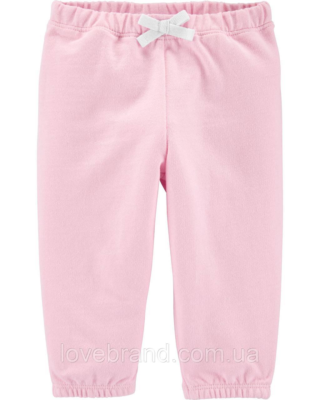 Cпортивные штаны для девочки Carter's розовые легкие