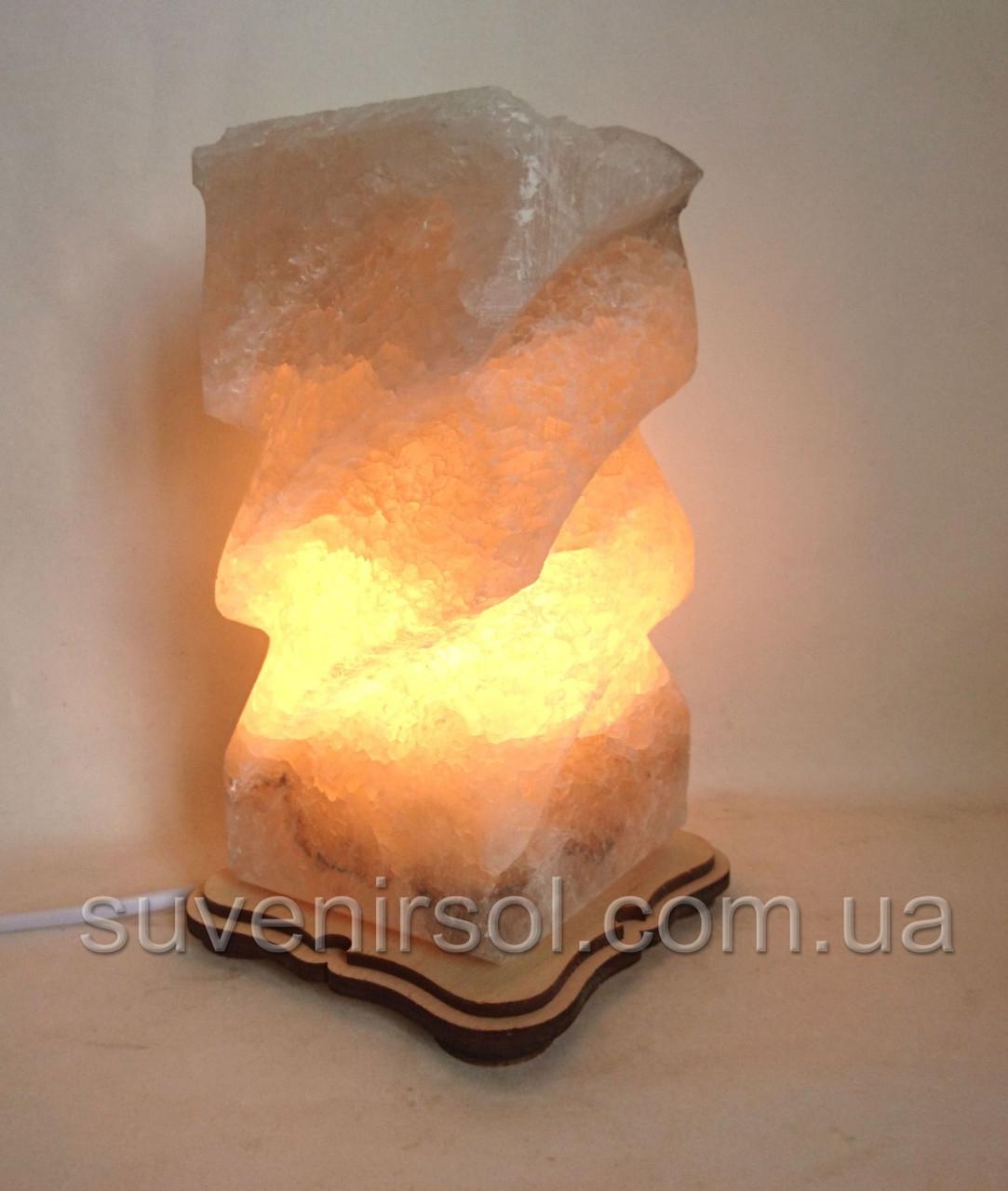 Соляной светильник Прямоугольник Волна