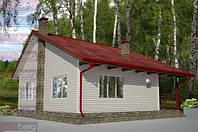 Каркасный дом - американский проект Русич 80 кв.м.