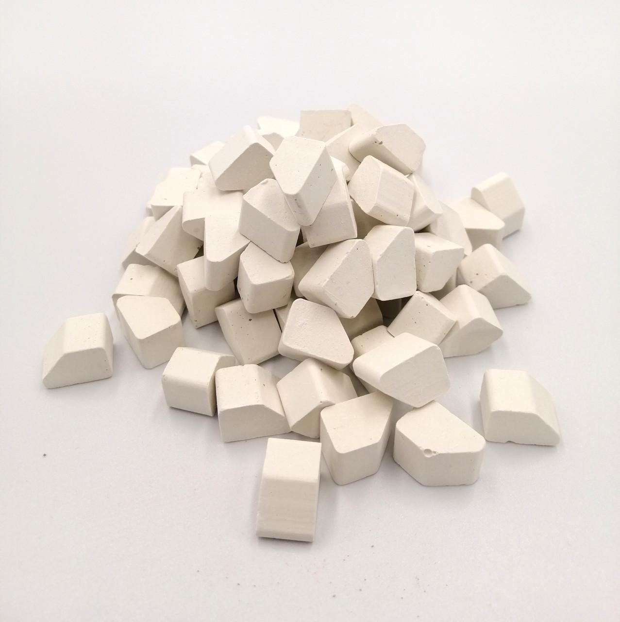 Цеглинка фігурна білий колір 55шт | Додаток до конструктора | Країна замків та фортець, Україна