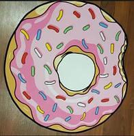 Килимок 3D безворсовий для будинку Пончик