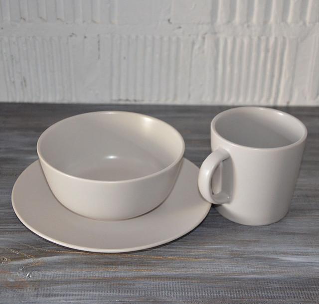 """Посуда столовая """"Jacob"""", набор 3 предмета (кремовый матовый)"""
