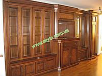 Книжные шкафы Колизей для кабинета массив дуба