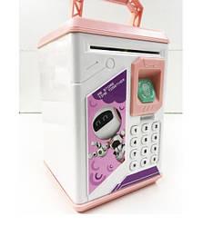 Копилка  электронная с кодовым замком и сканером отпечатка пальца Robot Bodyguard  Бело-розовая (590302)