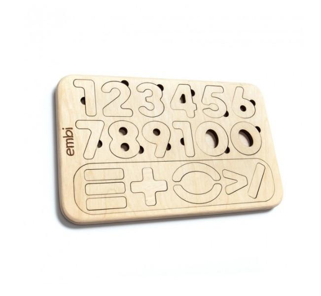 Пазл-сортер Цифры для детей, 24x1x15 см (363201)
