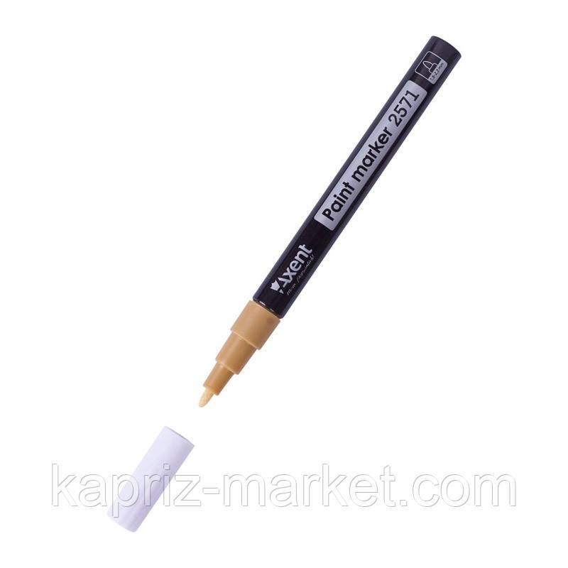 Маркер лак, 1,8-2,2 мм., цвет золотистый