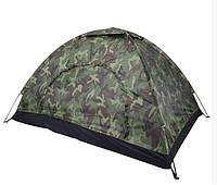 Палатка четырехместная 2*2,5 м водонепроницаемая для кемпинга, туризма и рыбалки, Хаки