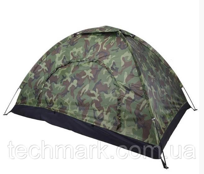 Палатка трехместная водонепроницаемая для кемпинга, туризма и рыбалки, Хаки