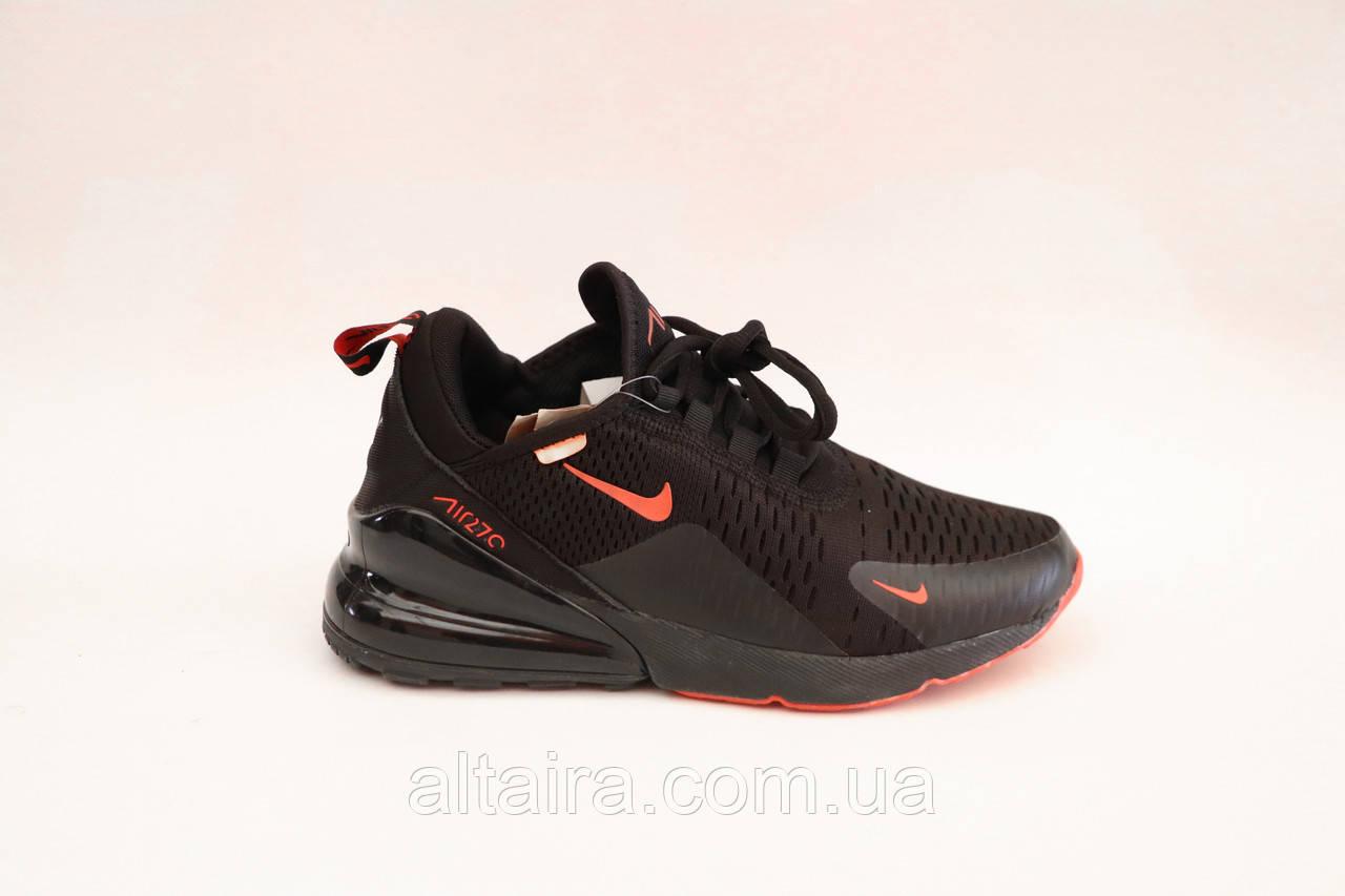 Кроссовки мужские черные сетка в стиле Nike