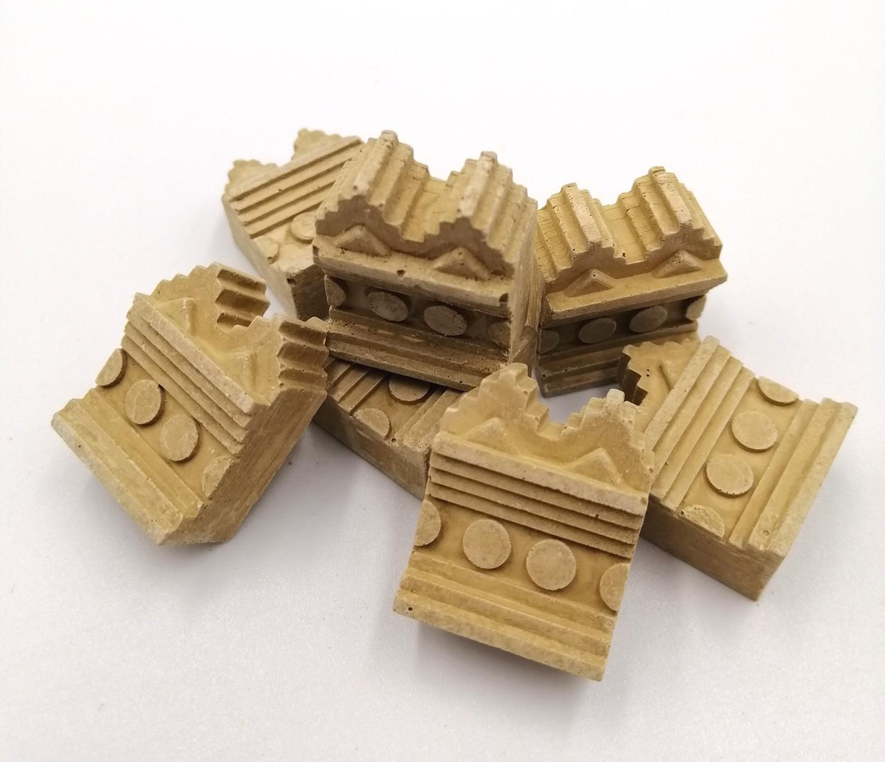 Зубці на стіну 100шт | Додаток до конструктора | Країна замків та фортець, Україна