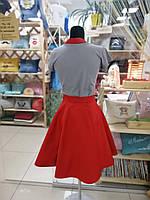 Фартук-сарафан с вышивкой имени \ логотипа \ текста красный, фото 3