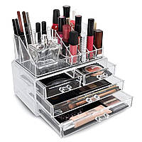 Органайзер Cosmetic Storage Box для хранения косметики и аксессуаров на 5 отделений, размер 24х14х19см, органайзеры для косметики